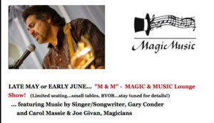 MUSIC & MAGIC LOUNGE SHOW! @ Theatre of Dreams Arts & Event Center